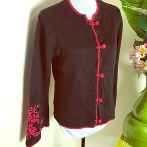 Newport news Embroidered bell sleeved cardigan L